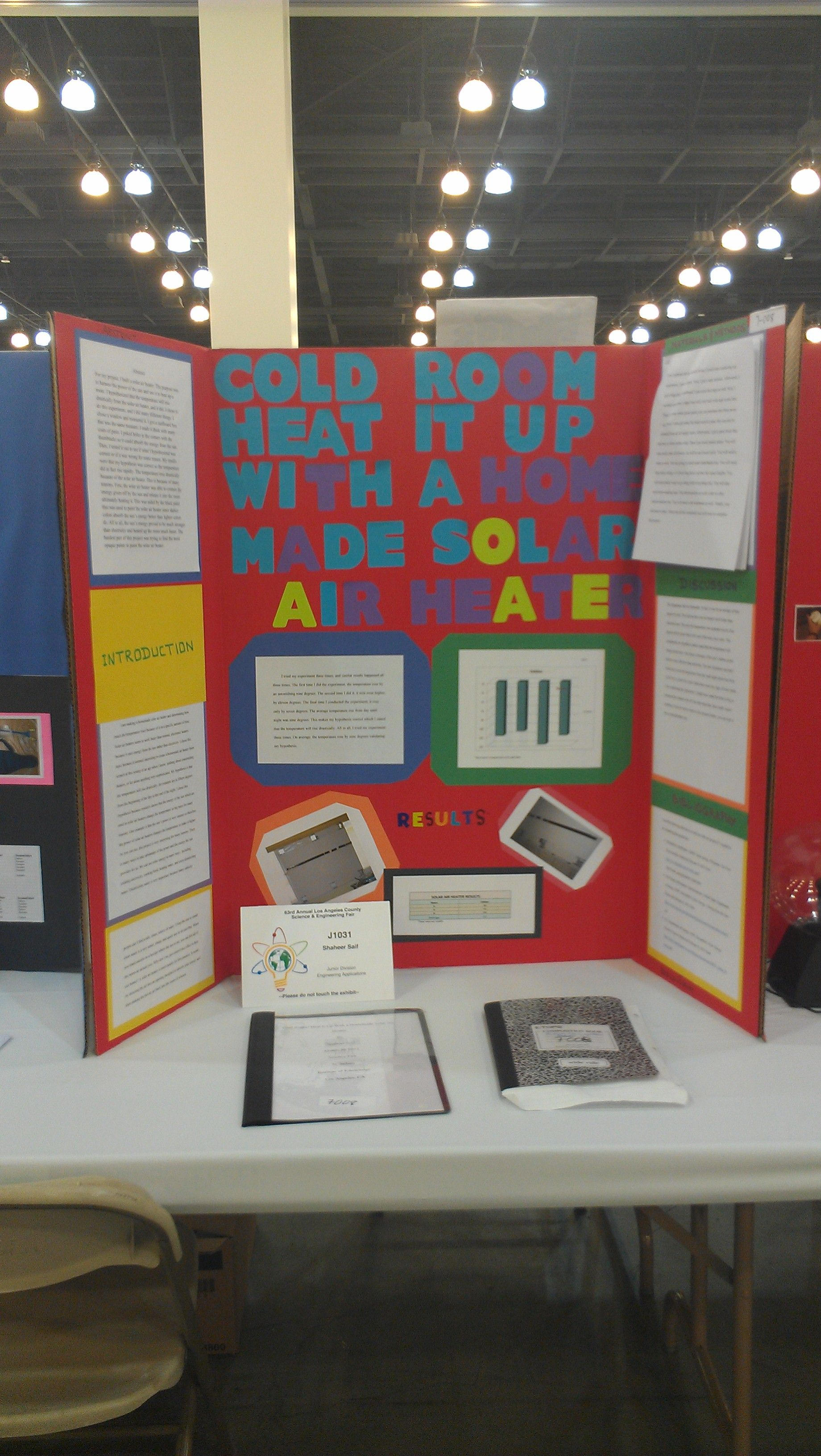 7th Grade Science Fair Project On A Solar Heater Built And
