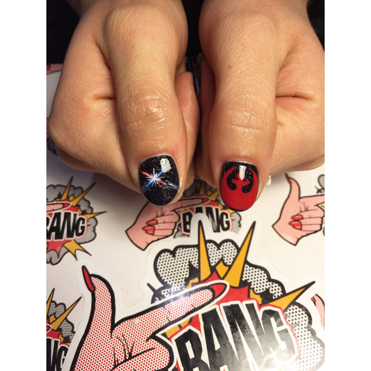 Star Wars nail art by Katrina Marie at Finger Bang Portland ...