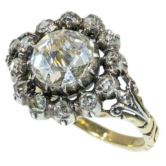 Antique Ring Amsterdam Rose Cut Diamond by adinantiquejewellery