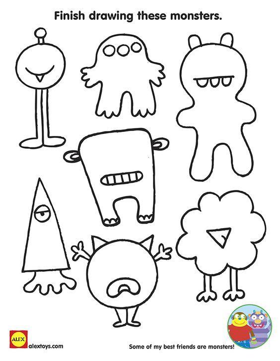little monster con color imprimir - Buscar con Google | Monsters ...