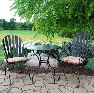 Backyard Creations Cedar Creek 3 Piece Bistro Patio Set At
