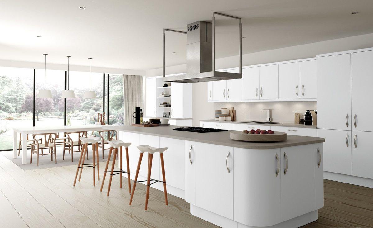 Our amazing range of Imola White Matt Slab Style Kitchens. Order ...