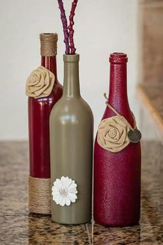 Wine Bottle Decorating Ideas Bottiglie Colorate  Riciclo Creativo  Pinterest  Bottle