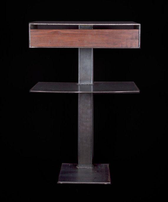 Best Industrial Modern Nightstand In Raw Steel By 400 x 300