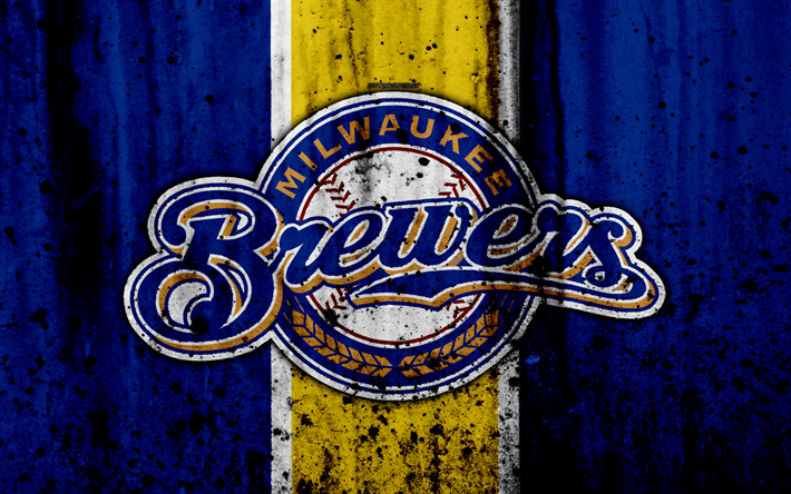 Download Wallpapers 4k Milwaukee Brewers Grunge Baseball Club Mlb America Usa Major League Baseball Stone Texture Baseball Besthqwallpapers Com Milwaukee Brewers Brewers Baseball Major League Baseball