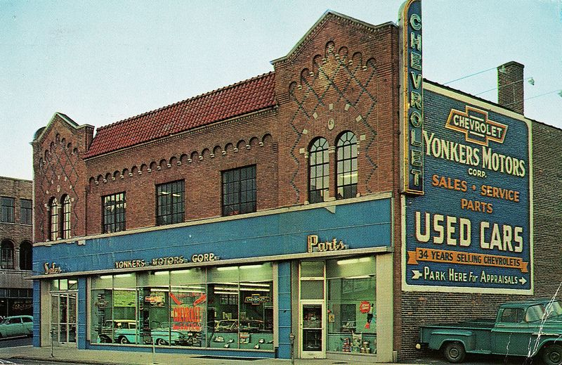 Yonkers Motors Corp, Chevrolet, Yonkers NY, 1958