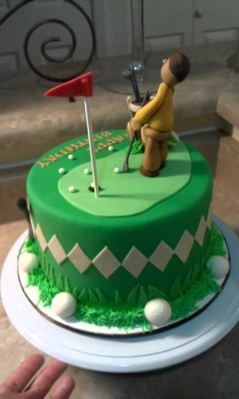 Golf Theme Cake Man Putting Fondant Figures Pinterest Golf