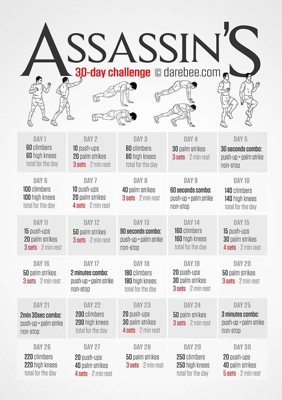An Assassins Creed Workout Challenge For 30 Days Something I Say Im Going To Dobut In The End Will Not