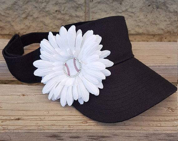 029e7e175f4 Baseball Mom Sun Visors Baseball Mom Hats Baseball Flower