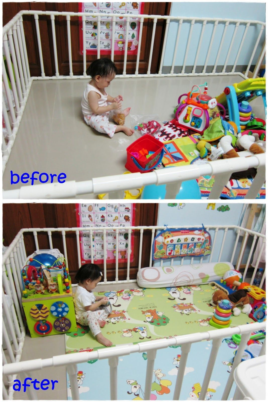 We decided to make playpen for you since you started to pull up as ...
