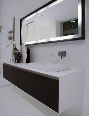 Modernos Diseños de Espejos para el Baño Muebles y Proyectos - diseos de baos
