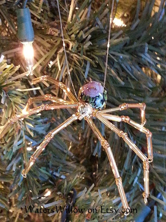 Legend Of The Christmas Spider Ornament Handmade by WatersWillow - Legend Of The Christmas Spider Ornament - Handmade - #1427 Happy