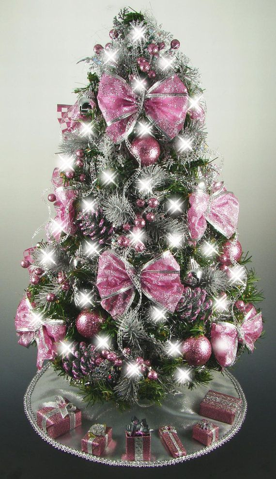 Mini Tabletop Christmas Tree Rose Pink And By Christmastreesnmore