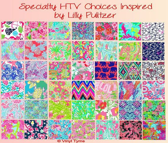 Inspiration Lilly Pulitzer Htv Heat Transfer Vinyl 12x12 Sheet Size By Vinyltyme Vinyl Crafts Sticky Vinyl Iron On Vinyl