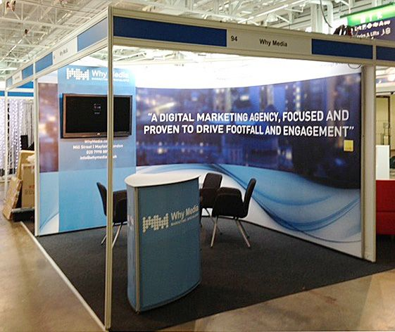 Marketing Exhibition Stand Alone : M m shell scheme wrap for marketing agency client at bcsc