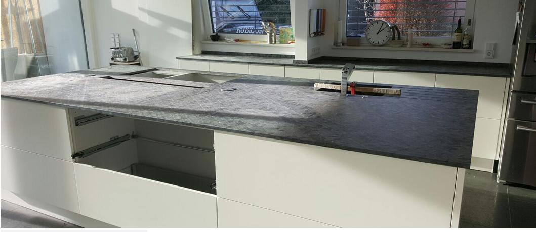 Schiefer Arbeirtsplatte Arbeitsplatte Kuchenarbeitsplatte Kuchen Design