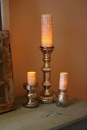 1 minute Flameless Candle Pillars