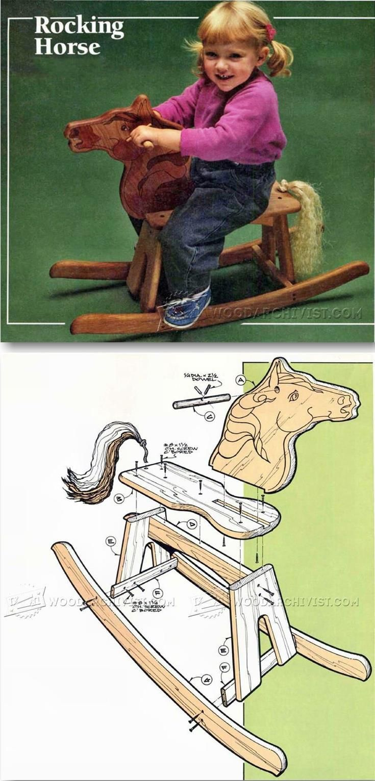 Wooden horse swing free patterns - Wooden Rocking Horse Plans Children S Woodworking Plans And Projects Woodarchivist Com