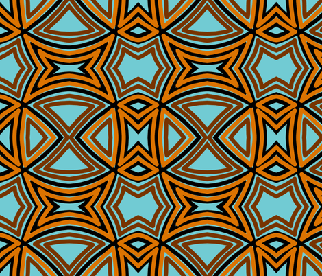 basket-weave-blue brown fabric by reen_walker on Spoonflower - custom fabric