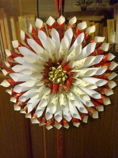 """Krása je v oku toho,kdo se dívá...: *Vánoční edice* Dekorace vyrobené doma - """" vánoční hvězda"""""""