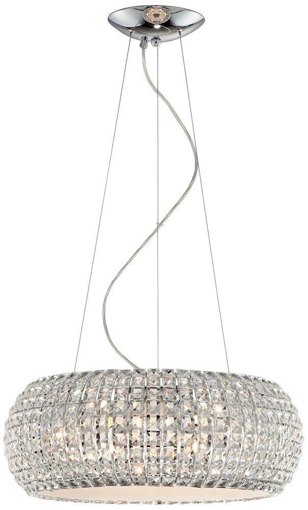 Contour Crystal and Chrome 20-Inch-W Possini Pendant Light - Chandeliers - Amazon.com