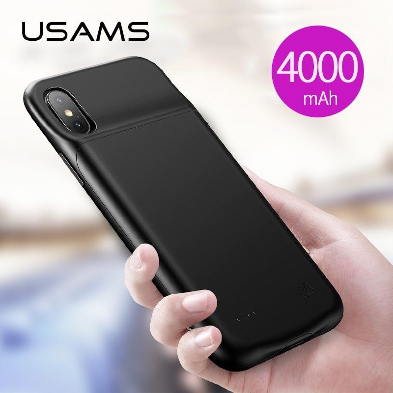 f2c0dcdb1 USAMS 4000Mmah Battery Charger Case For iPhone XR XS Max,3200mAh Battery  Case #USAMS