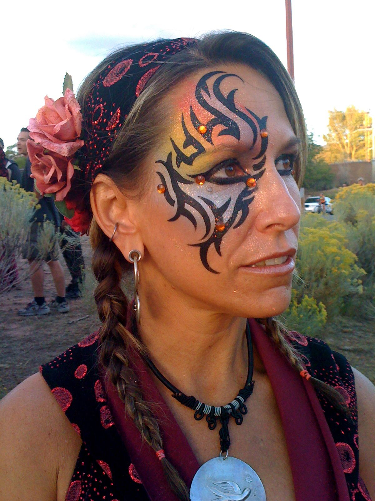 Henna Tattoo Mit Eyeliner: Face Painting « Rock Your Body Art