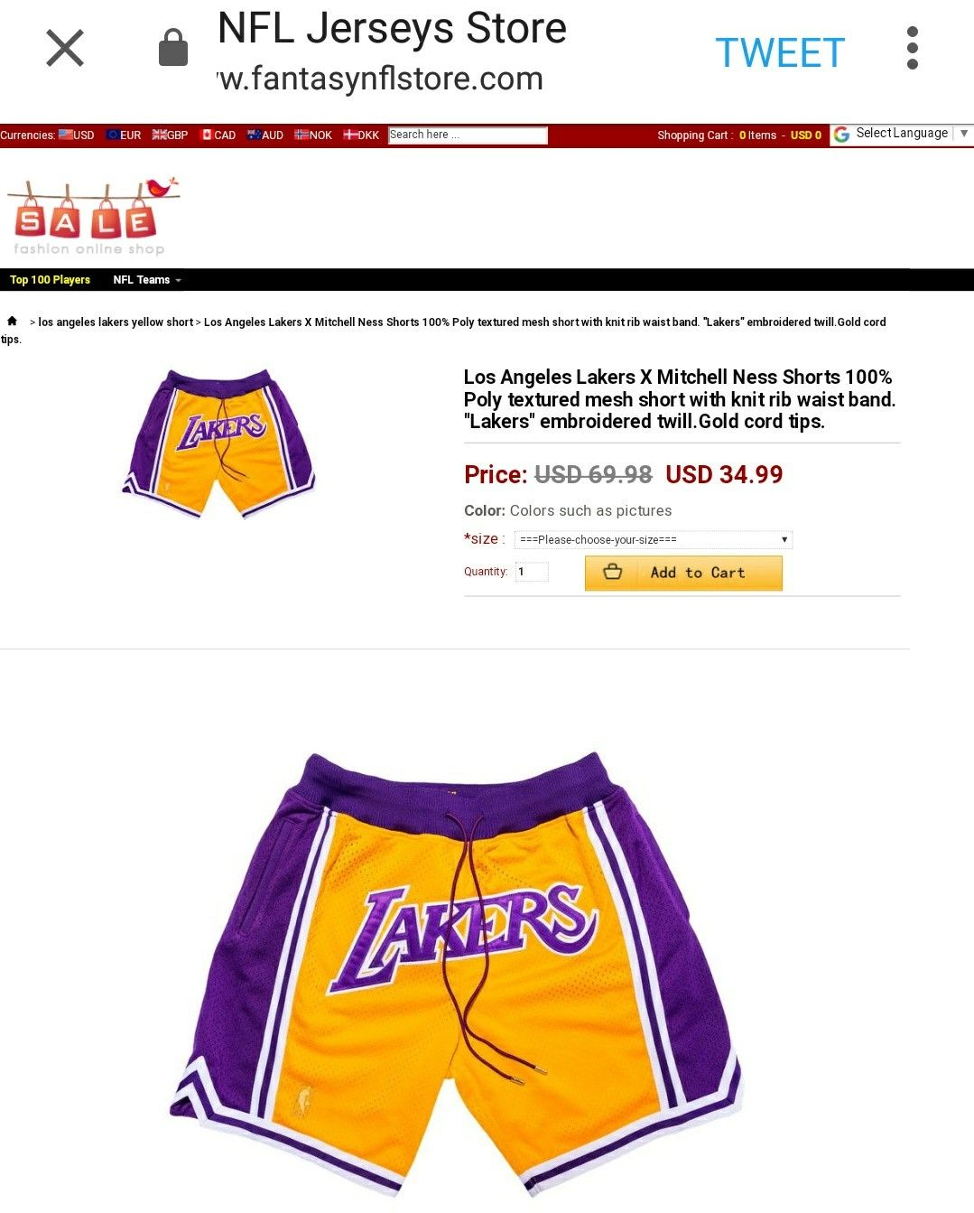 0e78d3d7bb9 Lakers Shorts
