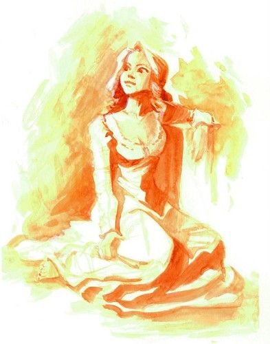 Tangled  - Rapunzel concept art - disney-princess Fan Art