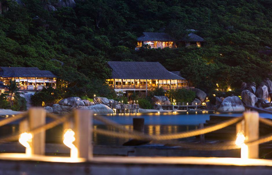 Resort view from jetty. Six Senses Ninh Van, Nha Trang, Vietnam. © Six Senses, fot. Basil Childers