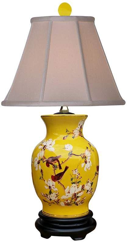 Yellowbird Hand Painted Porcelain Vase Table Lamp 9m030 Lamps Plus In 2021 Vase Table Lamp Lamp Table Lamp
