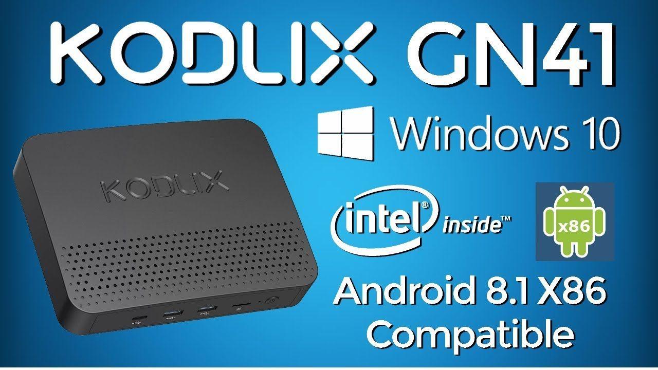 OMG!!! KODLIX GN41 Intel Windows 10 Mini PC - Dual Boot Android 8 1
