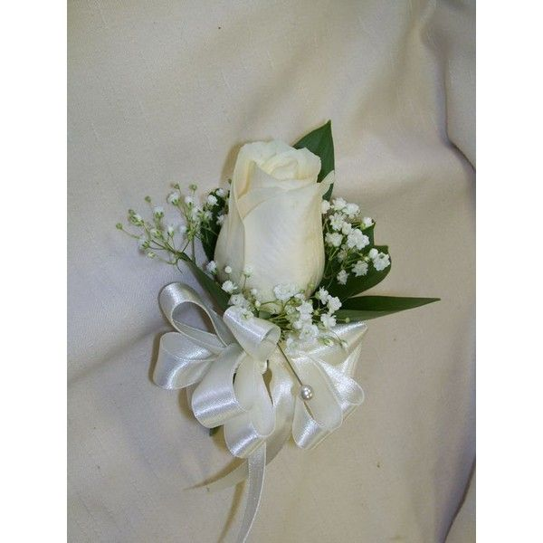 Off White and Pearl Button Blossom Boutonniere or Pin-On Corsage