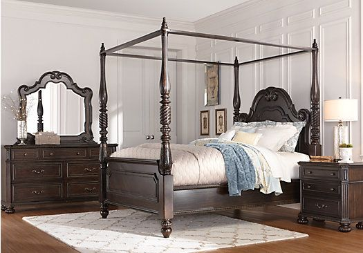 picture of Daventry 6 Pc Queen Canopy Bedroom from Queen Bedroom Sets Furniture & picture of Daventry 6 Pc Queen Canopy Bedroom from Queen Bedroom ...