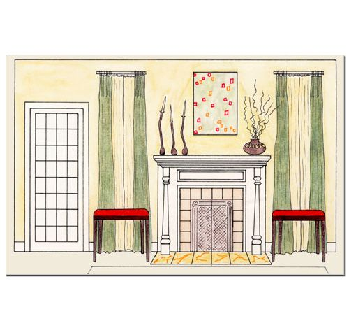 Living room elevation sketch design school 101 pinterest for Dining room elevation