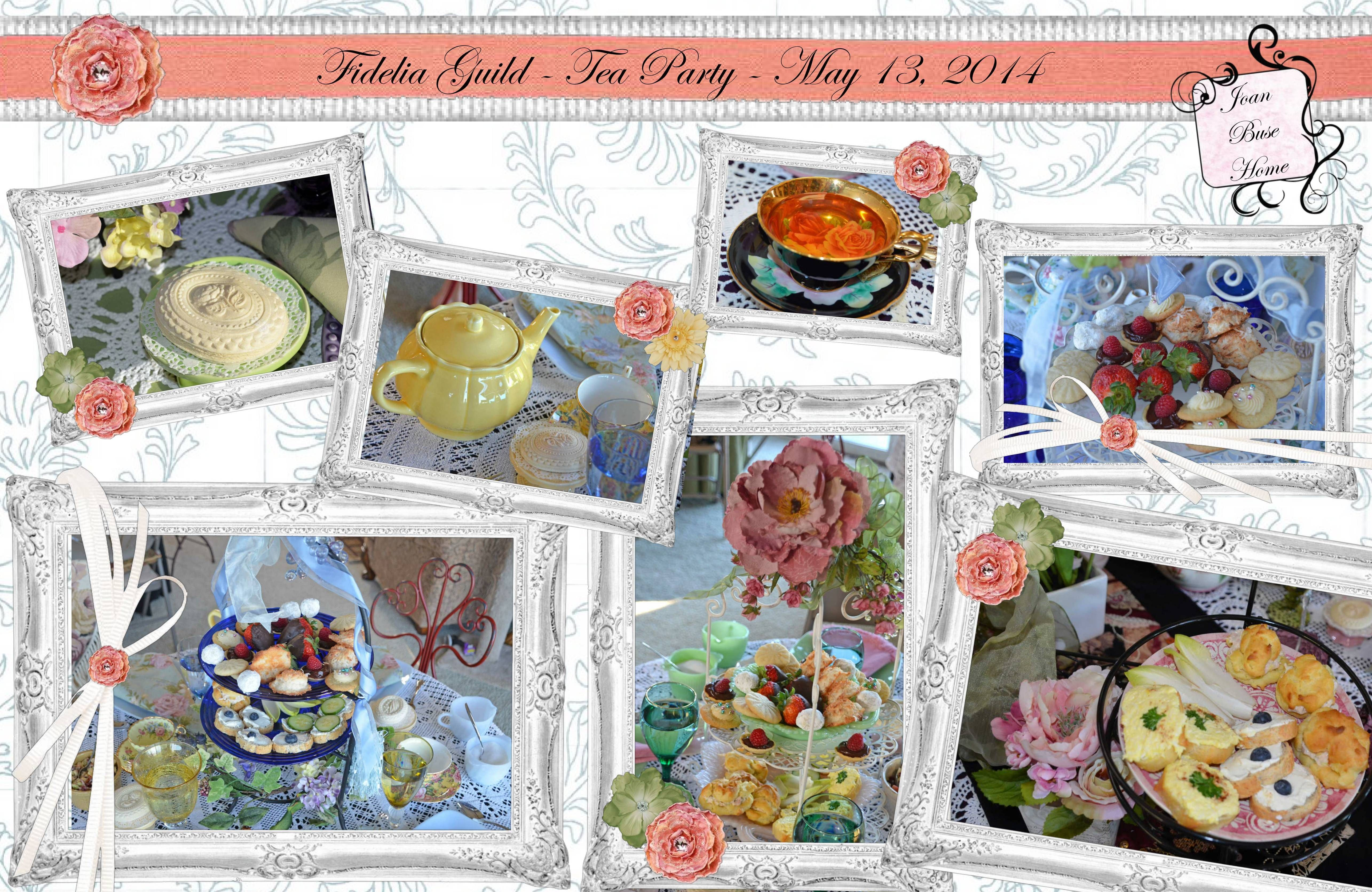 Poster design your own - Fidelia Guild Tea Party 2014 Poster Design Your Own Poster Canvas Print Photo