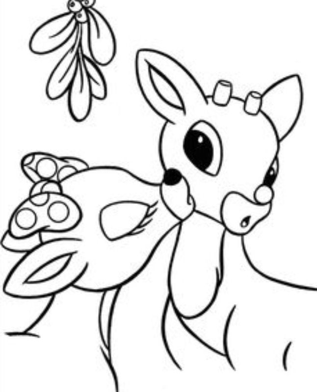 Rudolph The Red Nosed Christmas Reindeer Coloring Pages Free Printable For Kids