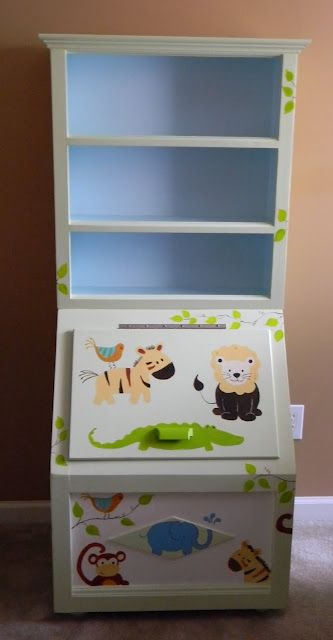 Love This Toy Box Such A Cute Idea Toy Boxes Toys