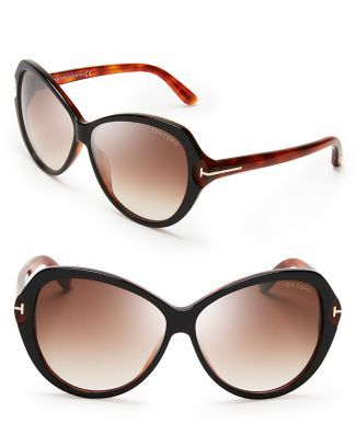 66ce003d85 Tom Ford Valentina Oversized Sunglasses Bloomingdales