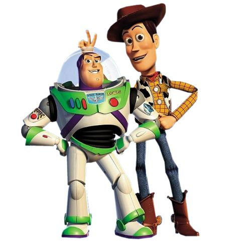 Disney s Toy Story Recreated With Real Toys. woody and buzz clip art  1ee0eda6351
