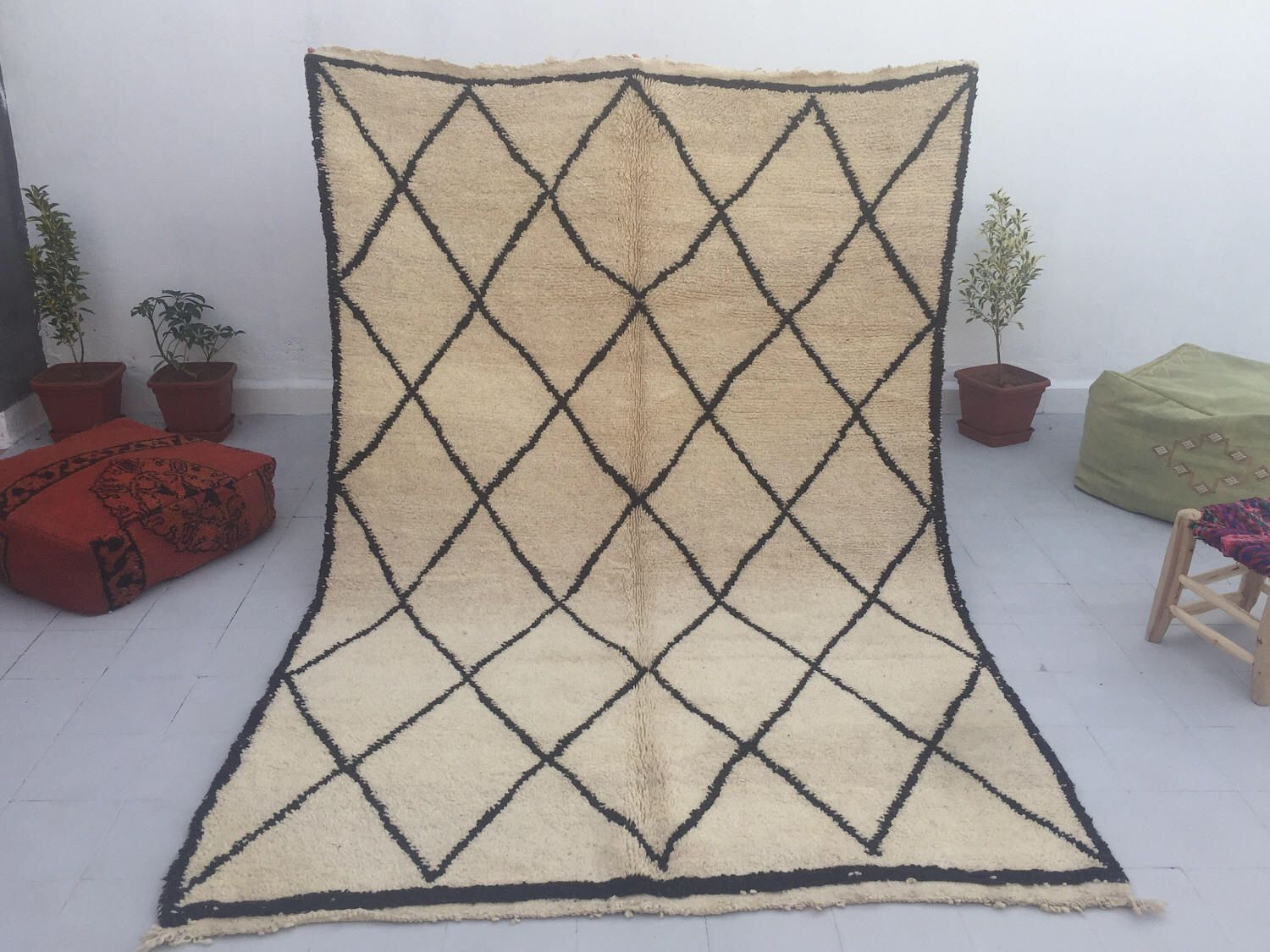 Moroccan Berber Beni Ouarin Rug 5x7 5 By Marrakechrugs On Etsy Https