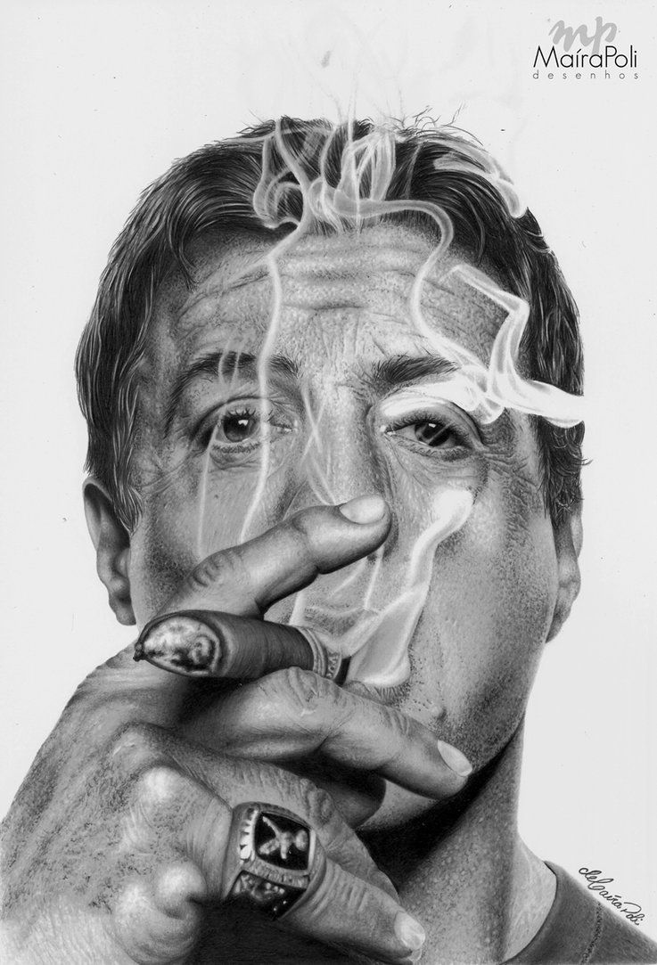 Pin By Joey On Rocky Balboa In 2020 Celebrity Art Portraits