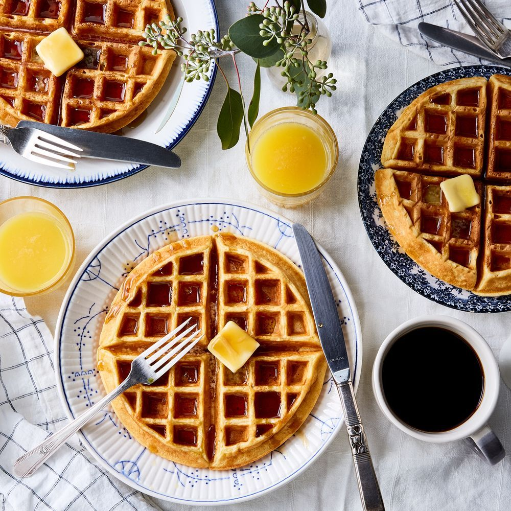 Buttermilk Waffles Recipe On Food52 Recipe Buttermilk Waffles Waffle Recipes Waffles