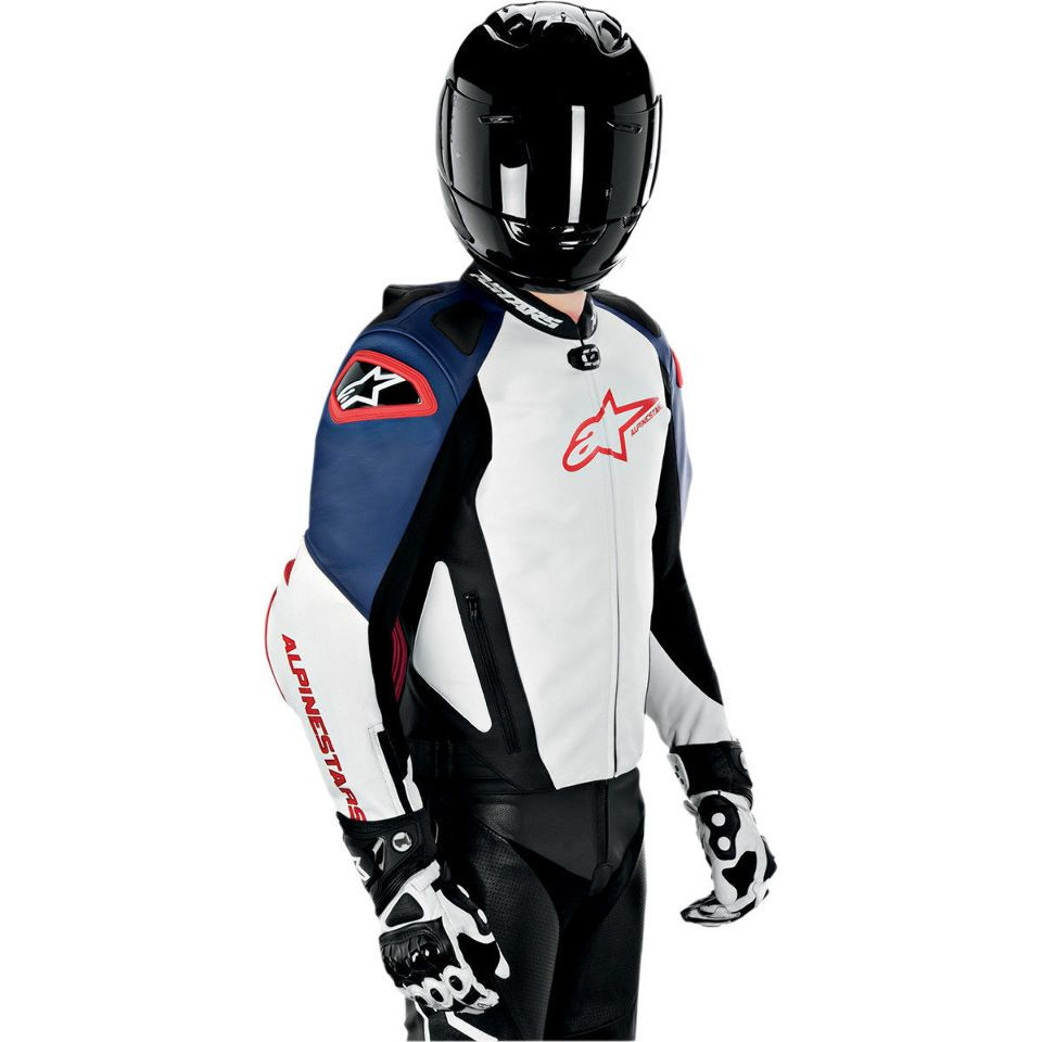 Image result for motorcycle touring jacket red white and blue