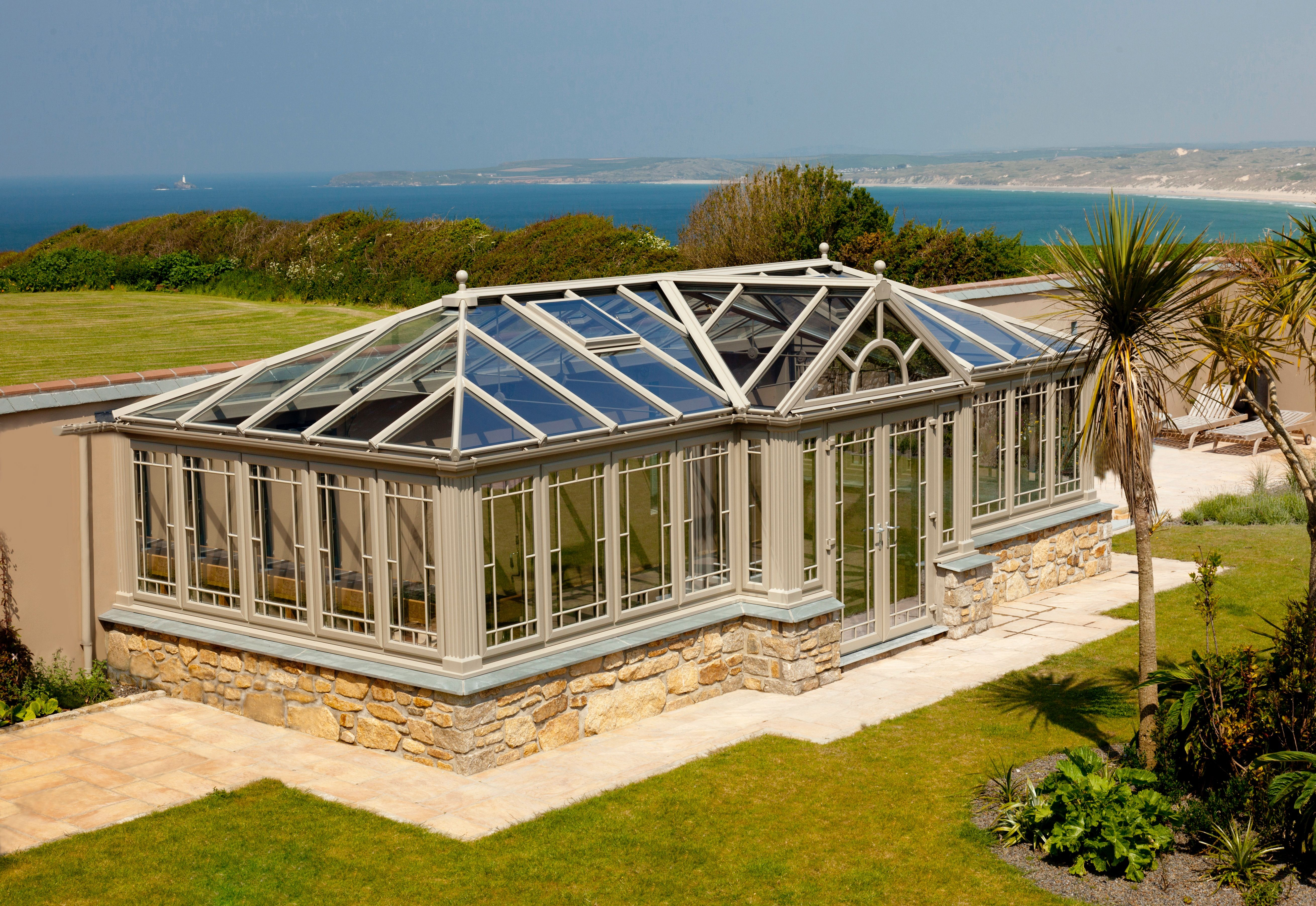 Conservatories concept windows and conservatories essex - Stunning Painted Upvc Freestanding Conservatory In Carbis Bay By Philip Whear Windows Conservatories Www