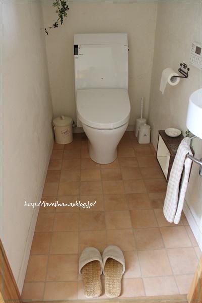 トイレの床 リフォーム完了 トイレ 床 Diy 無印良品の家 トイレ