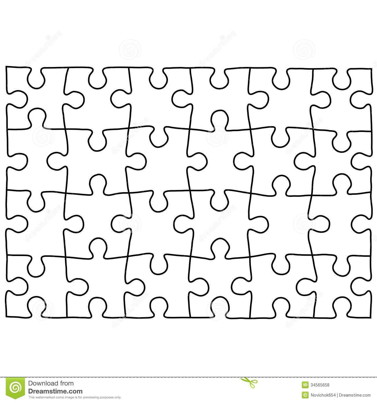 Jigsaw Puzzle Design Template