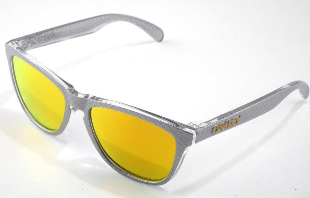 New oakley sunglasses frogskins checkbox silver fire asian