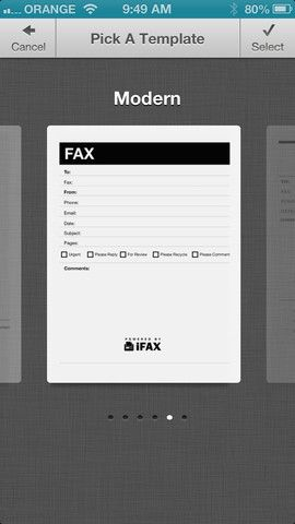 iFax Send & Receive Faxes (0.00 plus 0.99 for up to 5