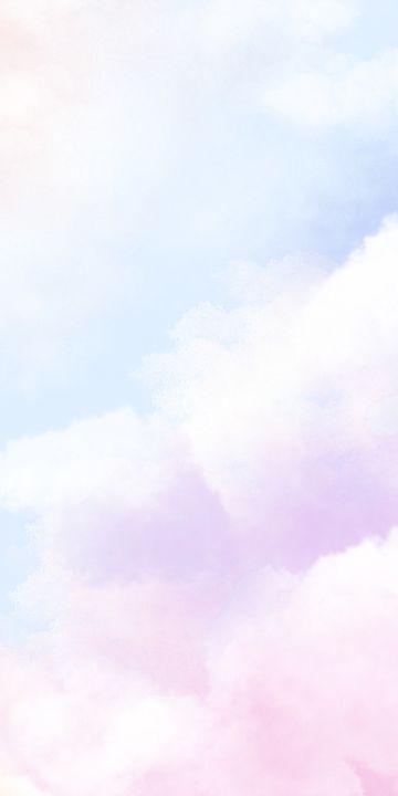 Cute Gradient Cloud Colorful Mobile Phone Wallpaper
